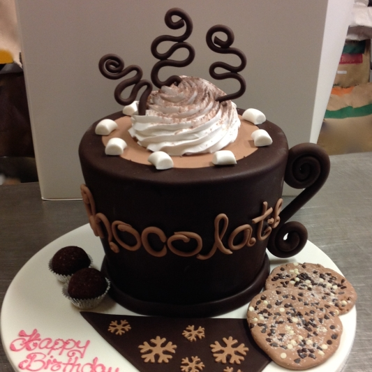 Something special for the Chocoholic. A chocolate mud cake with chocolate ganache filling, chocolate icing and choc-chip cookies to boot.