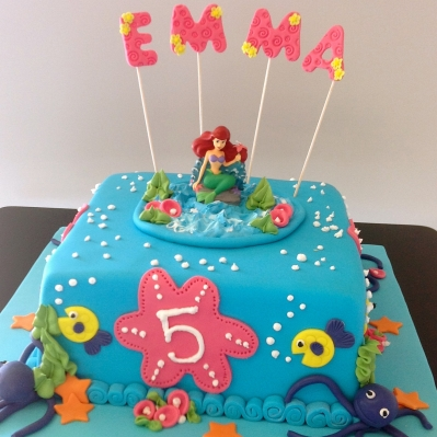 A special cake we made for a little girl who loved all things under the sea.