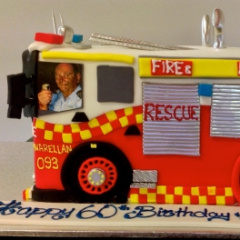 A special Birthday and Retirement cake we made for someone who was involved in the Rural Fire Services for many years.